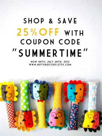 SUMMERTIME sale at www.NiftyKidstuff.etsy.com
